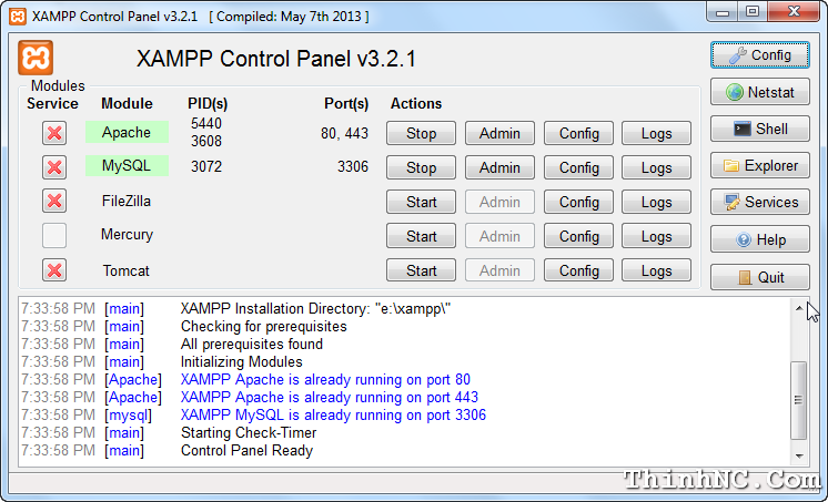 xampp-sucess-start